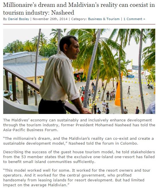 the local Maldivian