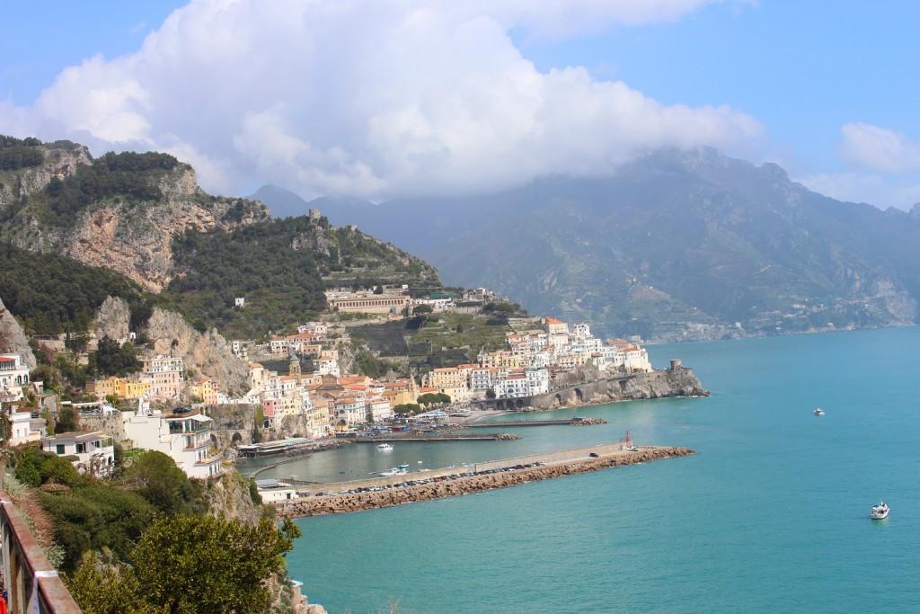 walking amalfi coast 8 view of Amalfi 1